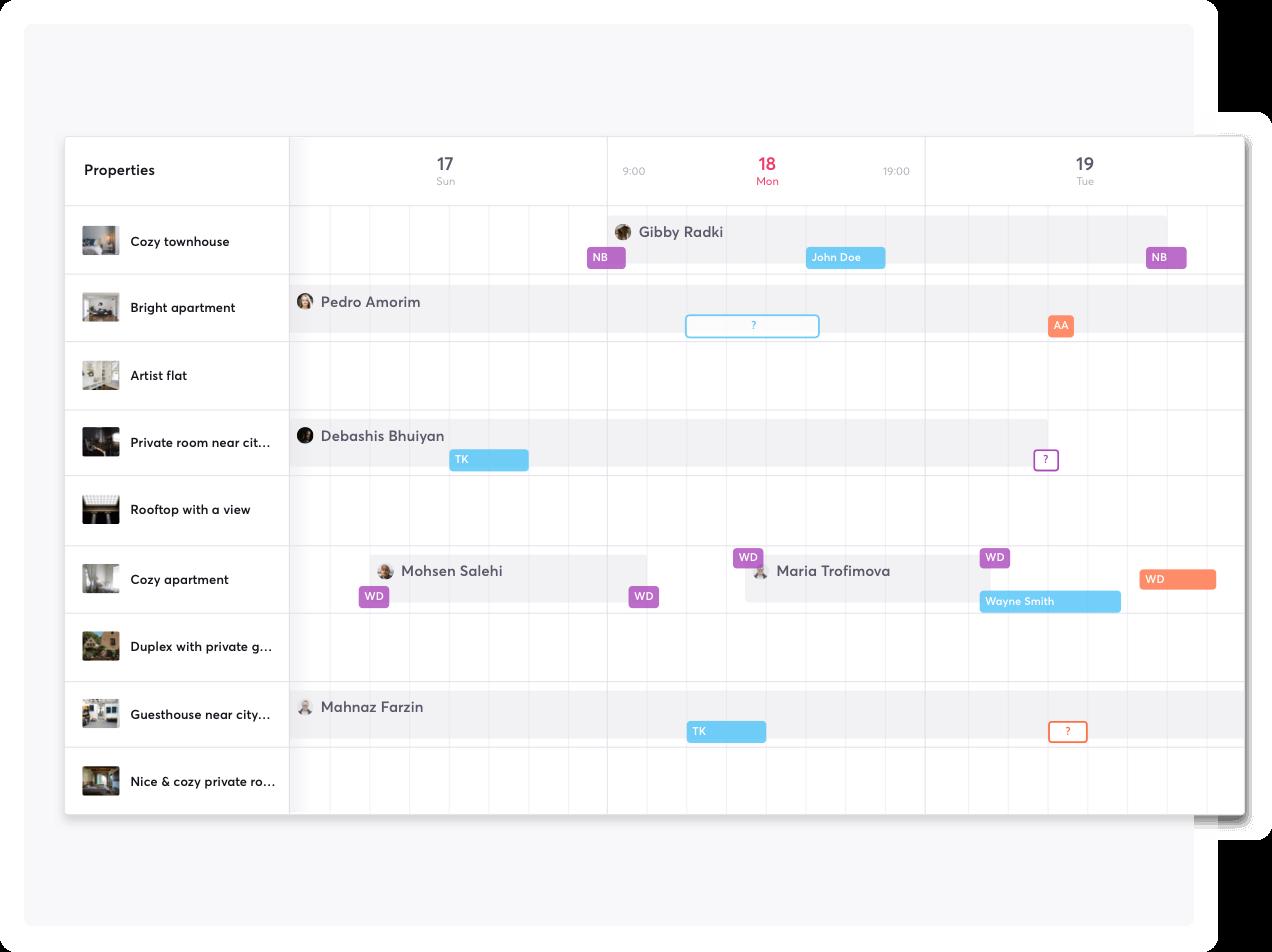 smartbnb operations calendar